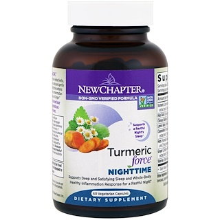 New Chapter, Turmeric Force Nighttime, 60 Vegetarian Capsules