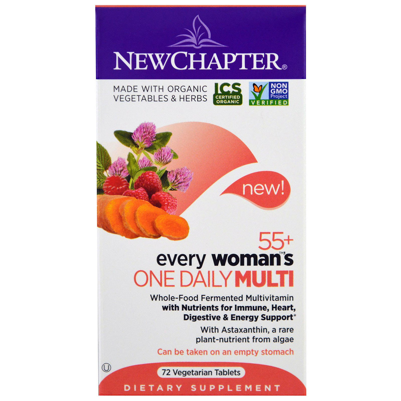New Chapter, Every Woman's One Daily 55+ Multi , 72 Veggie Tabs
