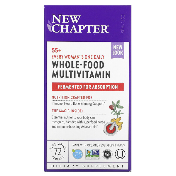 55+ Every Woman's One Daily, Whole-Food Multivitamin, 72 Vegetarian Tablets