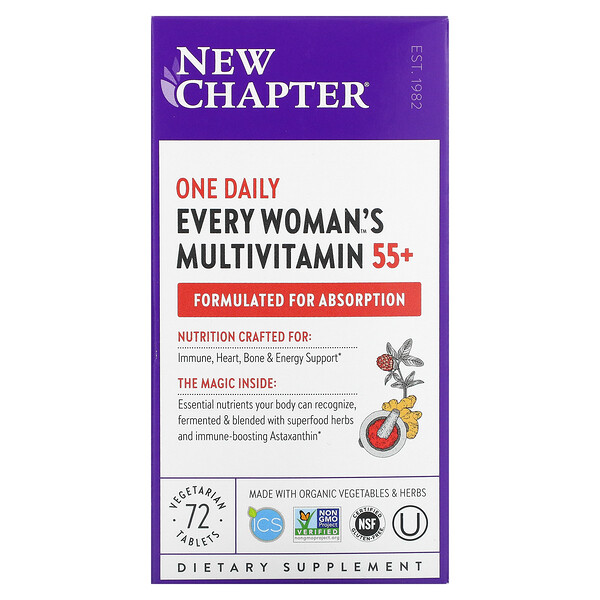 55+ Every Woman's One Daily Multivitamin, 72 Vegetarian Tablets