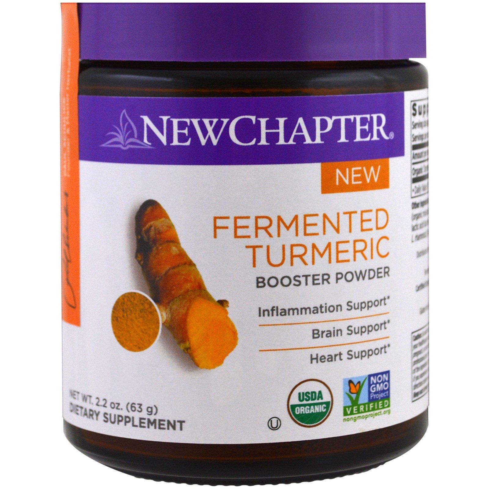New Chapter, Ферментированный бустер из порошка куркумы, 2.2 унции (63 г)