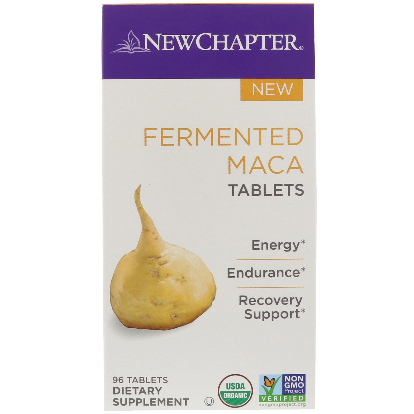 New Chapter, Fermented Maca, 96 Tablets
