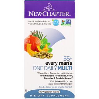 New Chapter, Мультивитаминный комплекс Every Man's для приема один раз в день, для мужчин старше 55 лет, 96 вегетарианских таблеток
