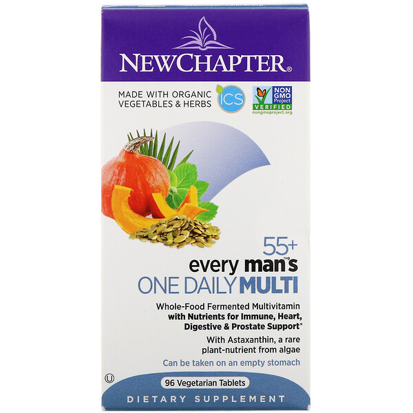 55+ Every Man's One Daily Multi, 96 Vegetarian Tablets