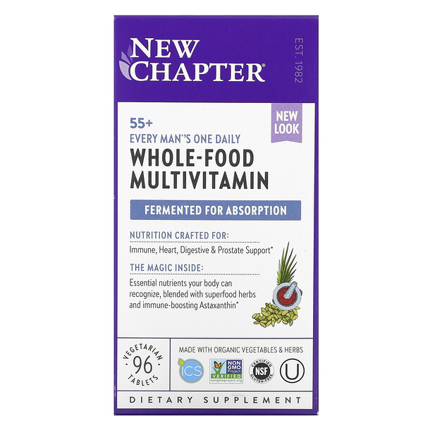 55+ Every Man's One Daily, Whole-Food Multivitamin, 96 Vegetarian Tablets