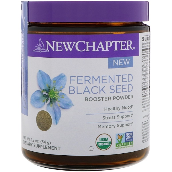 New Chapter, Fermented Black Seed Booster Powder, 1.9 oz (54 g) (Discontinued Item)