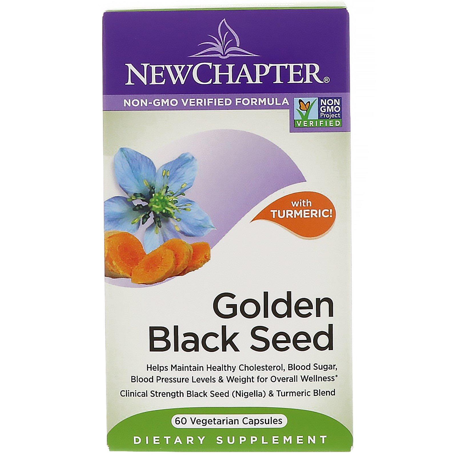 New Chapter, Golden Black Seed, 60 вегетарианских капсул