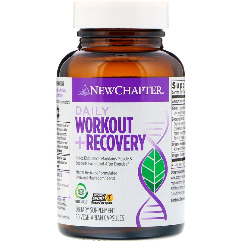 New Chapter, Daily Workout + Recovery, 60 Vegetarian Capsules - photo 2