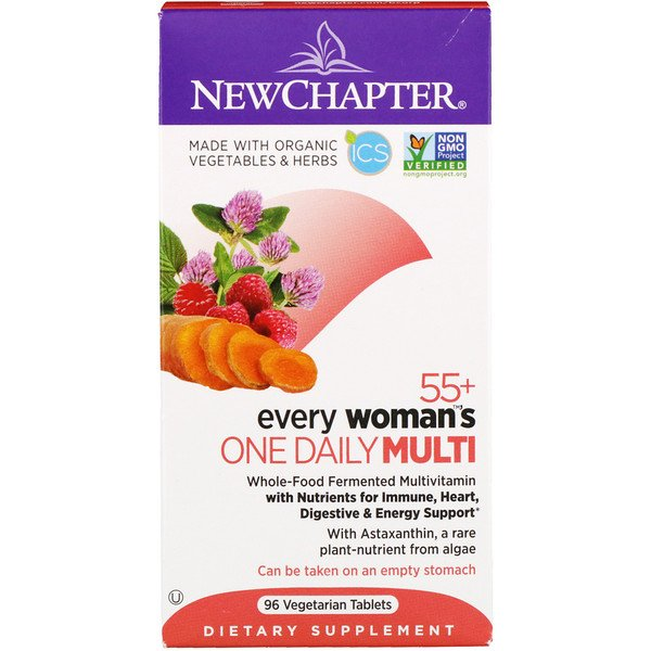 New Chapter, 55+ Every Woman's One Daily Multi, מכיל 96 טבליות צמחיות