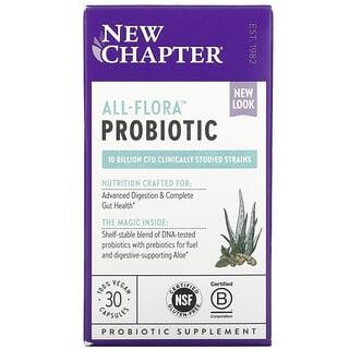 New Chapter, All-Flora Probiotic , 30 Vegan Capsules