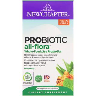 New Chapter, Probiótico All-Flora, 60 Cápsulas Vegetarianas