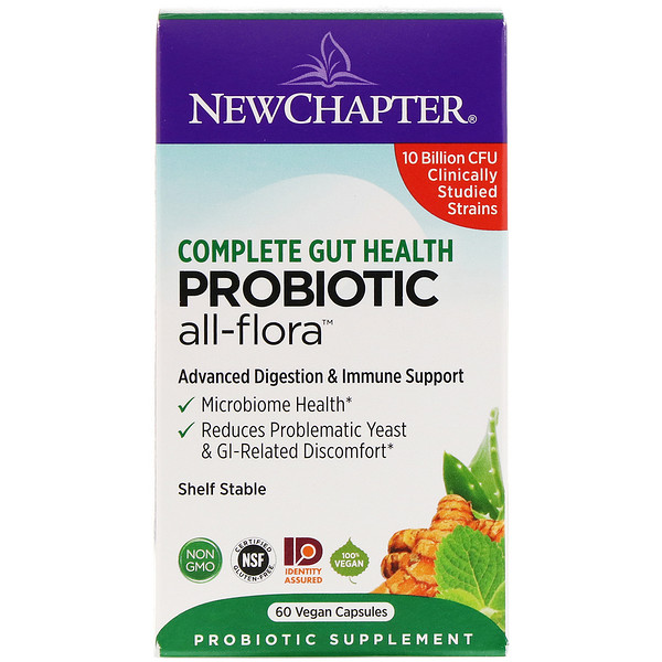 New Chapter, Probiotic All-Flora, 60 Vegan Capsules (Discontinued Item)
