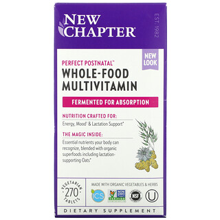 New Chapter, Perfect Postnatal Whole-Food Multivitamin, 270 Vegetarian Tablets