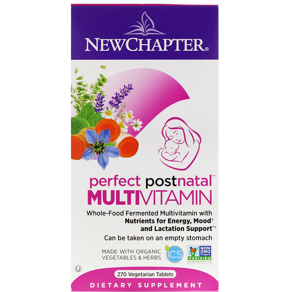 New Chapter, Perfect Postnatal Multivitamin, 270 Vegetarian Tablets