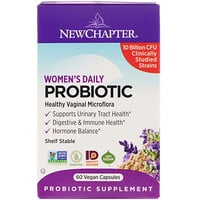 New Chapter, Women's Daily Probiotic, 10 Billion CFU, 60 Vegan Capsules