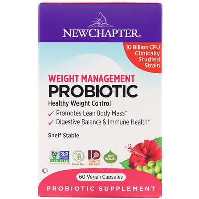 Chapter Weight Management Probiotic, 10 Billion CFU, 60 Vegan Capsules  - Купить