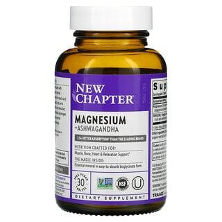 New Chapter, Magnesium + Ashwagandha, 30 Vegan Tablets