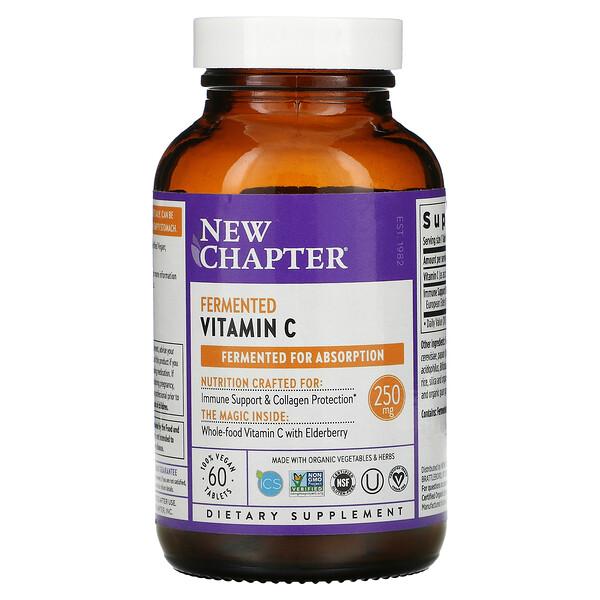 Fermented Vitamin C, 250 mg, 60 Vegan Tablets