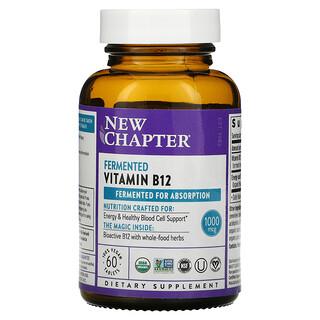 New Chapter, Fermented Vitamin B12, 1,000 mcg, 60 Vegan Tablets
