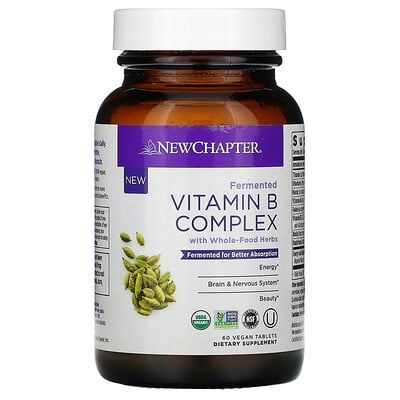 Купить Chapter Fermented Vitamin B Complex, 60 Vegan Tablets