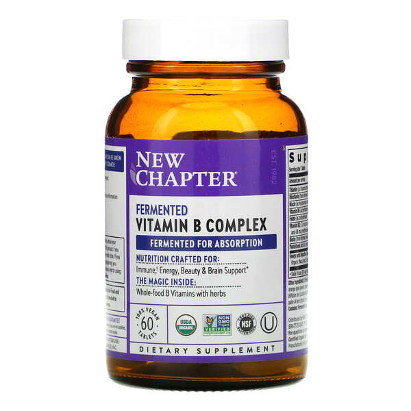 Fermented Vitamin B Complex, 60 Vegan Tablets