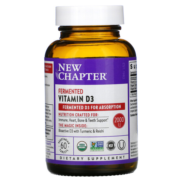 Fermented Vitamin D3, 60 Vegan Tablets