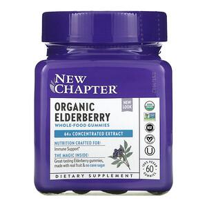 New Chapter, Organic Elderberry Whole-Food Gummies, 60 Vegan Gummies