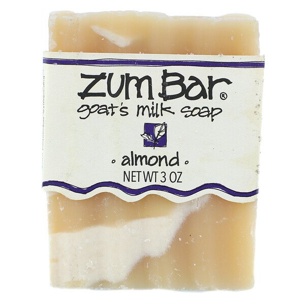Zum Bar, Goat's Milk Soap, Almond, 3 oz Bar