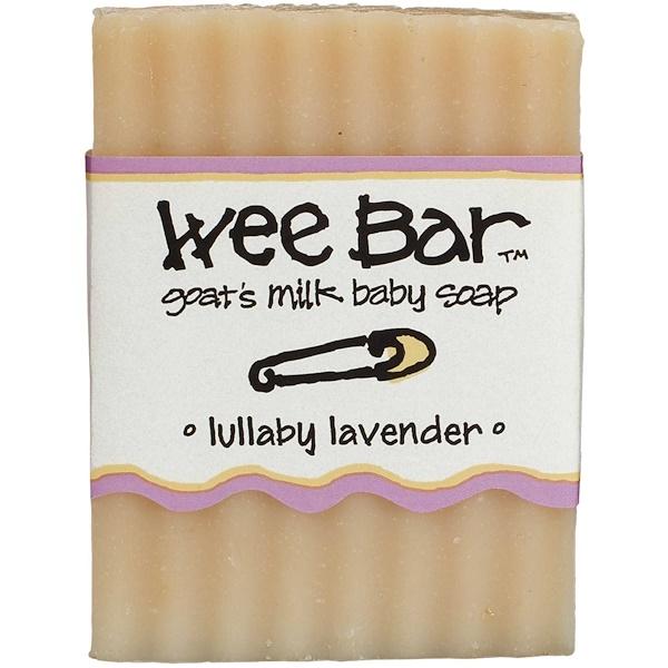 Indigo Wild, Wee Bar, Goat's Milk Baby Soap, Lullaby Lavender, 3 oz Bar