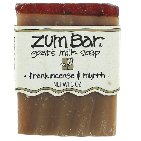 Zum Bar, Goat's Milk Soap, Frankincense & Myrrh, 3 oz  Bar