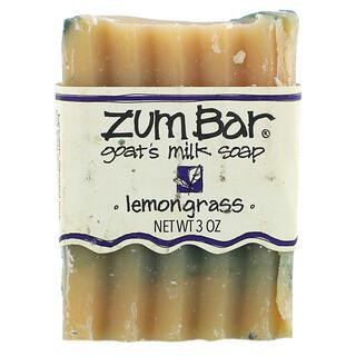 ZUM, Savon au lait de chèvre Zum Bar, citronnelle, barre (faite à la main) de 3 oz
