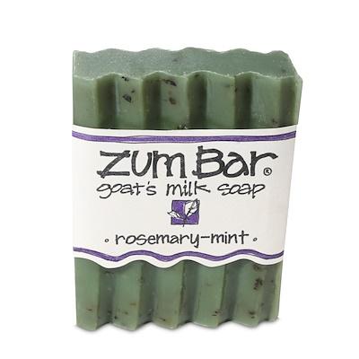Купить Zum Bar, мыло с козьим молоком, розмарин и мята, кусок весом 3 унции