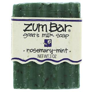 ZUM, Zum Bar, Goat's Milk Soap, Rosemary-Mint, 3 oz Bar
