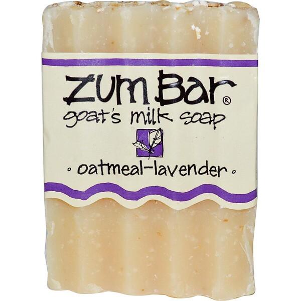 Indigo Wild, Zum Bar, Goat's Milk Soap, Oatmeal Lavender, 3 oz  Bar