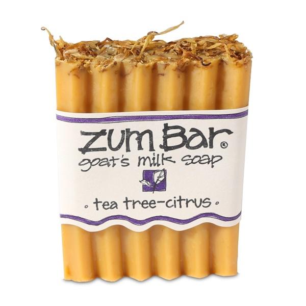 Indigo Wild, Zum Bar, Goat's Milk Soap, Tea Tree - Citrus, 3 oz Bar