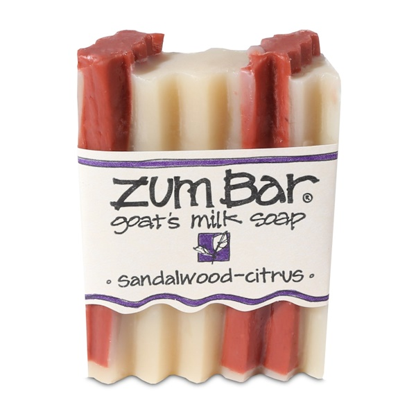 Zum Bar, Goat's Milk Soap, Sandalwood-Citrus, 3 oz Bar