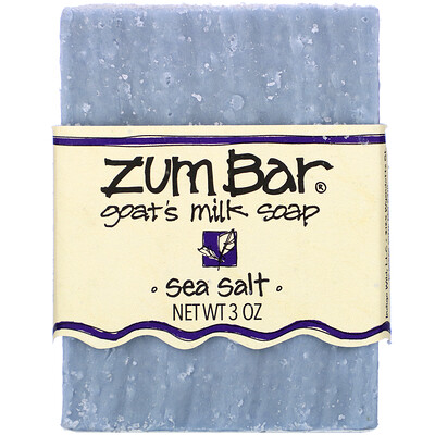 Zum Bar, Goats Milk Soap, Sea Salt, 3 oz