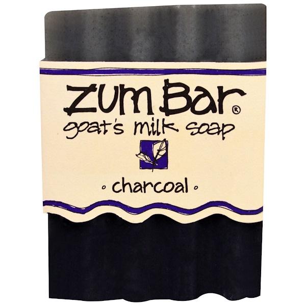 Indigo Wild, Zum Bar, Goat's Milk Soap, Charcoal, 3 oz Bar