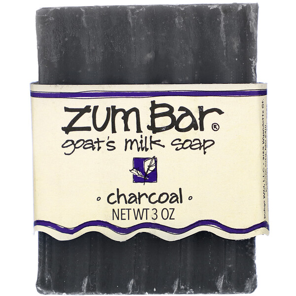 Indigo Wild, Zum Bar, Goat's Milk Soap, Charcoal, 3 oz (Discontinued Item)