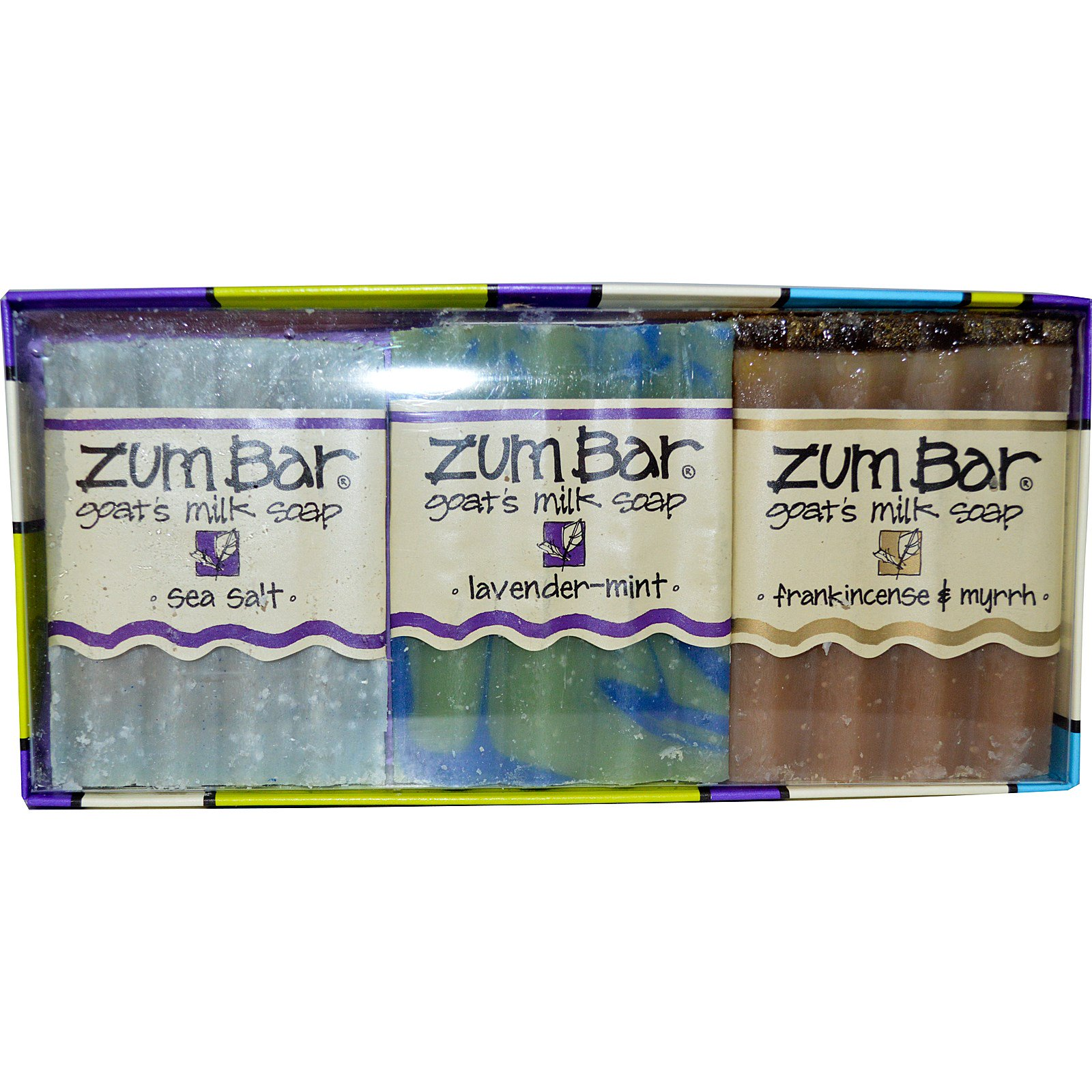 Indigo Wild, Zum Bar, мыло с козьим молоком, подарочный набор из 3 кусков по 3 унции каждый