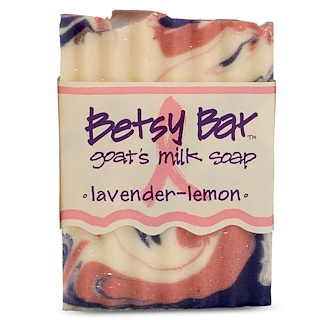 Indigo Wild, Betsy Bar, Goat's Milk Soap, Lavender-Lemon, 3 oz