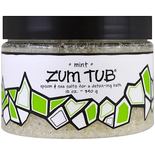 Indigo Wild, Zum Tub, Epsom & Sea Salts, Mint, 12 oz (340 g)