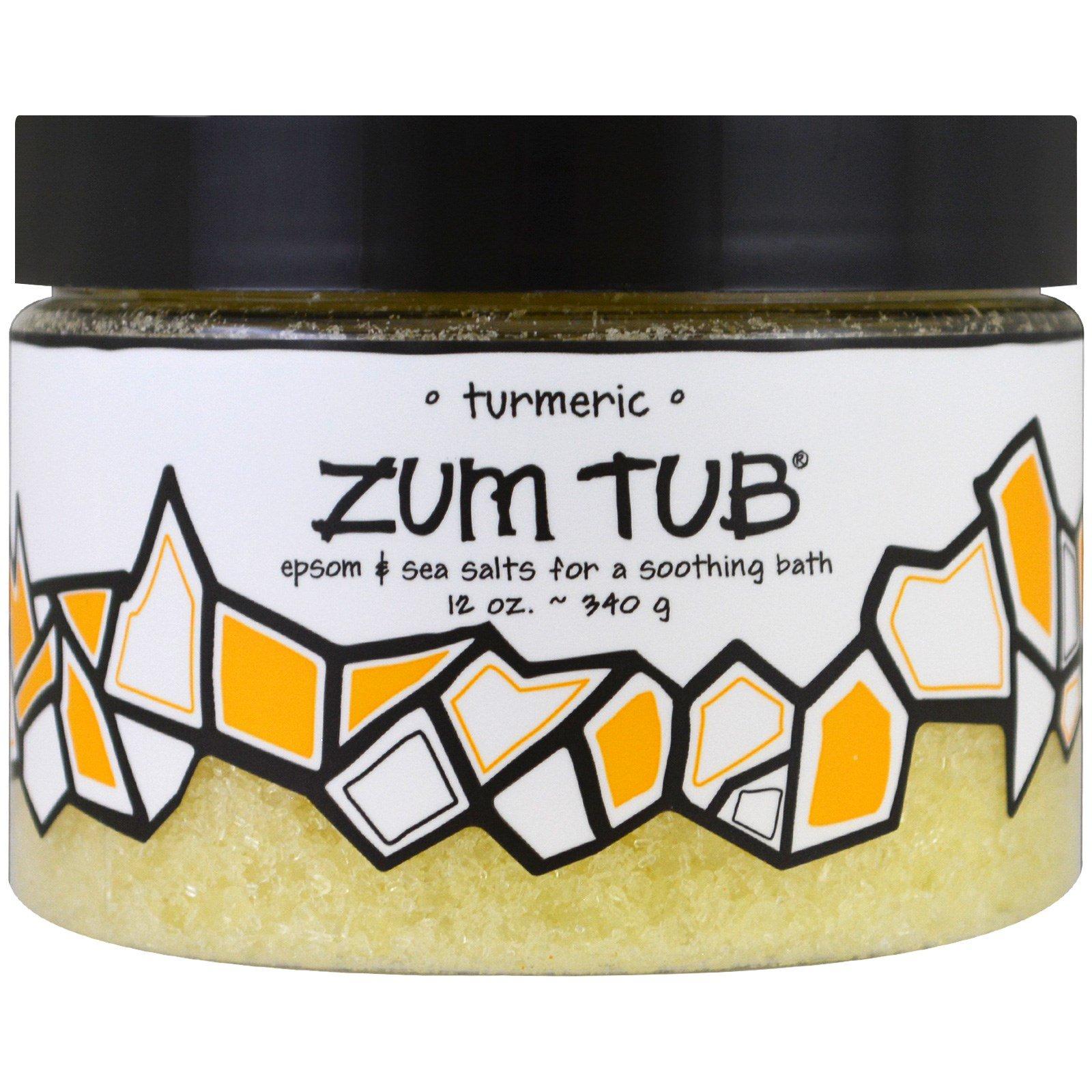 Indigo Wild, Zum Tub, эпсомская и морская соль, куркума, 340 г (12 унций )