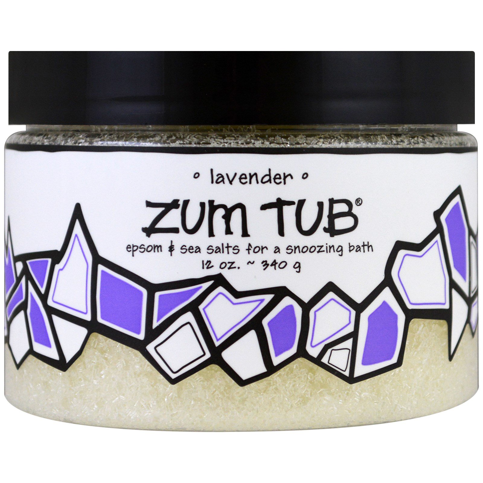 Indigo Wild, Zum Tub, Эпсон и морские соли, лаванда, 12 унц. (340 г)