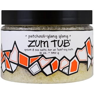 Indigo Wild, Zum Tub, Epsom & Sea Salts, Patchouli-Ylang Ylang, 12 oz (340 g)