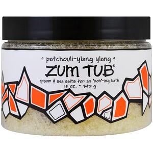Индиго вилд, Zum Tub, Epsom & Sea Salts, Patchouli-Ylang Ylang, 12 oz (340 g) отзывы