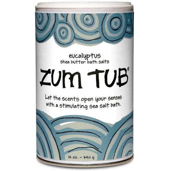 Indigo Wild, Zum Tub, Shea Butter Bath Salts, Eucalyptus, 12 oz (340 g) (Discontinued Item)
