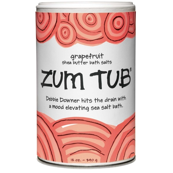 Indigo Wild, Zum Tub, Shea Butter Bath Salts, Grapefruit, 12 oz (340 g) (Discontinued Item)
