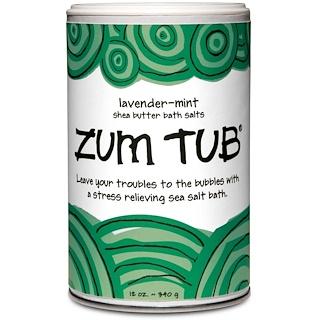 Indigo Wild, Zum Tub, Shea Butter Bath Salts, Lavender-Mint, 12 oz (340 g)