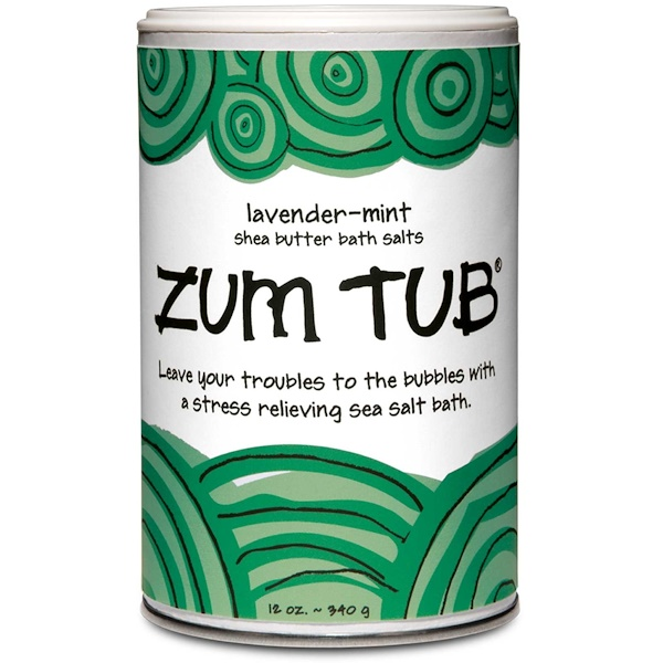 Indigo Wild, Zum Tub, Shea Butter Bath Salts, Lavender-Mint, 12 oz (340 g) (Discontinued Item)
